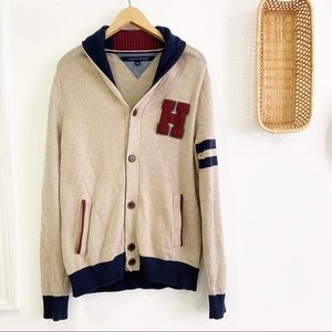 Tommy Hilfiger Button Up Shawl Collar Sweater
